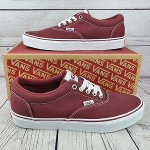 New Van's Doheny Red Canvas Sneakers